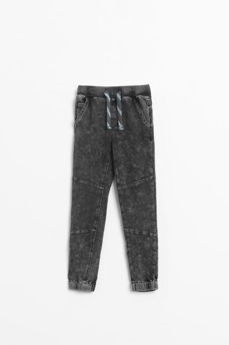 Spodnie dresowe w kolorze czarnym z efektem sprania