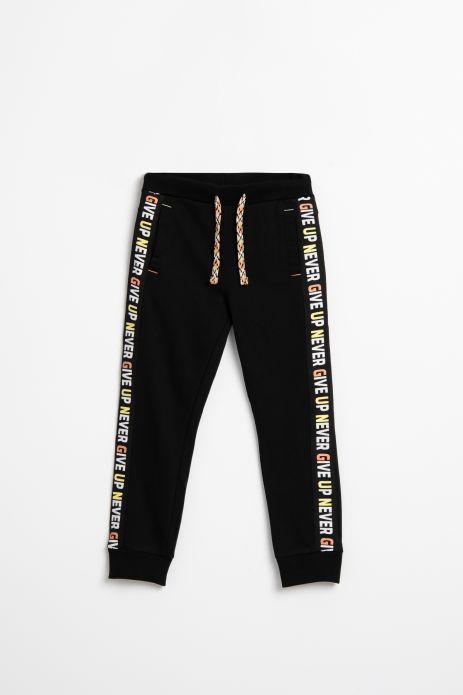 Spodnie dresowe w kolorze czarnym z nadrukiem