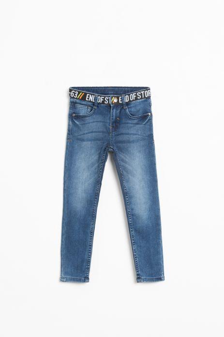 Spodnie jeansowe z gumą w pasie