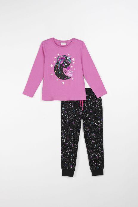 Dievčenské pyžamá svietiace v tme